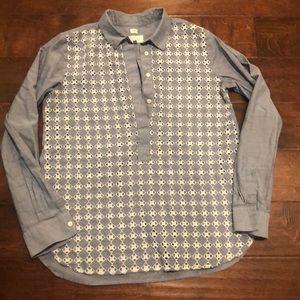 LOFT Chambray Shirt with Eyelet Detail